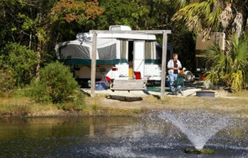 Campground at James Island County Park Charleston South Carolina 29412